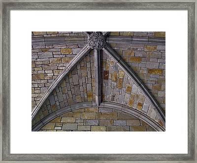 Vaulted Stone Ceiling Framed Print
