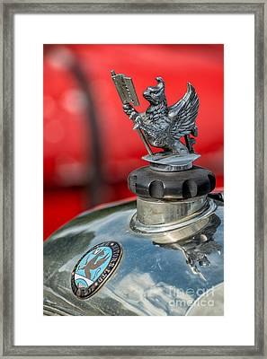 Vauxhall Griffin Motif Framed Print by Adrian Evans