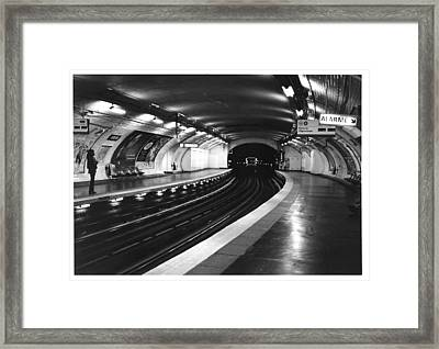 Vavin Station Paris Metro Framed Print by Gordon Lukesh