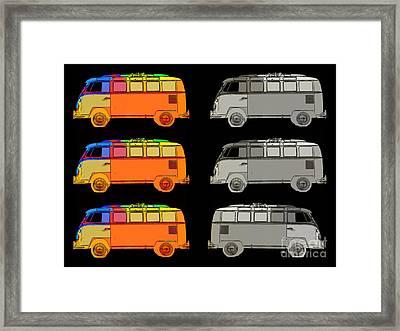 Vdub Surfer Bus Series Framed Print