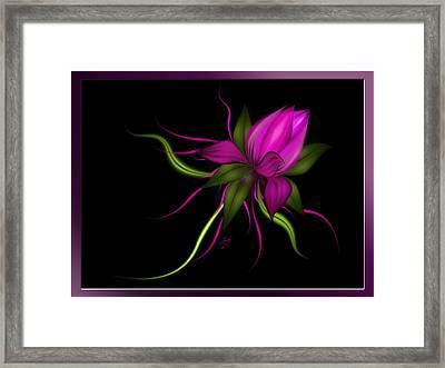 Vector Flower Framed Print