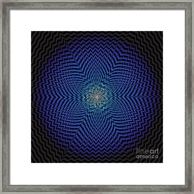 Vector Optical Illusion  Framed Print