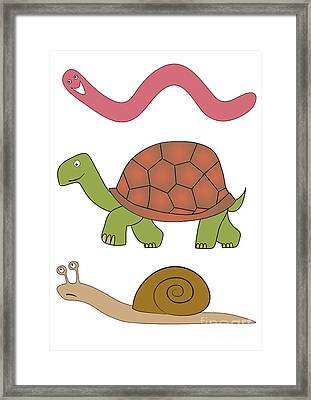 Vector Slowly Animals Framed Print