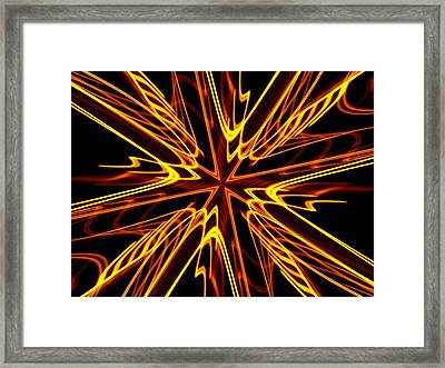 Framed Print featuring the photograph Vectoring The Neon by David Dunham