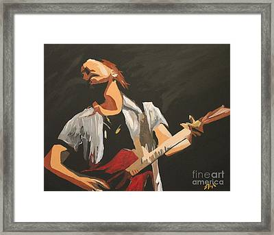 Vedder Framed Print by Steven Dopka