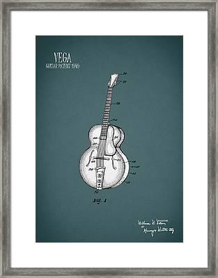 Vega Guitar Patent 1949 Framed Print