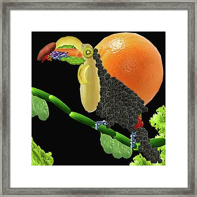 Vegan Toucan Framed Print