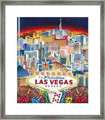 Vegapolis Framed Print by Brett Sauce
