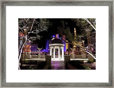 Vegas At Night 2 Framed Print by Patrick  Flynn