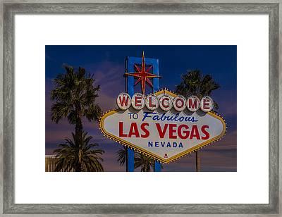 Vegas Baby II Framed Print by Susan Candelario