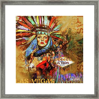 Vegas City  Framed Print