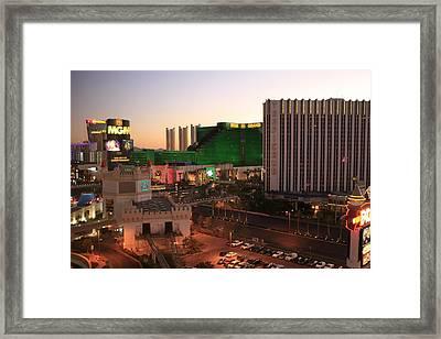 Vegas Dawn Framed Print
