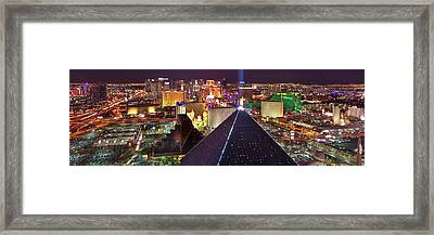 Vegas Lights Framed Print