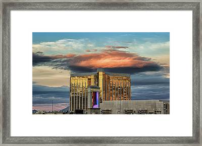 Framed Print featuring the photograph Vegas by Michael Rogers