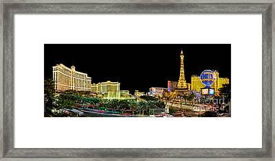 Vegas Splendor  Framed Print by Az Jackson