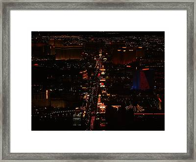 Vegas Strip Framed Print by D R TeesT