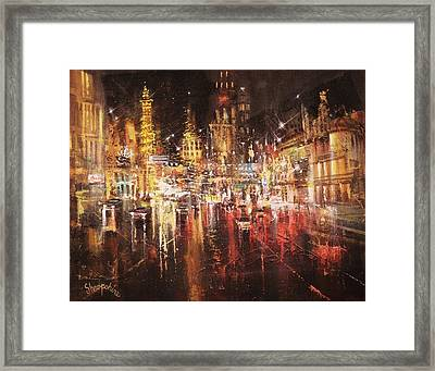 Vegas - Sudden Downpour Framed Print