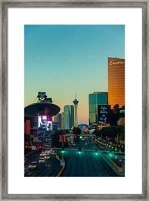 Vegas Via The Overpass Framed Print