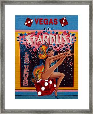 Vegas Vintage Framed Print by Jeff Burgess