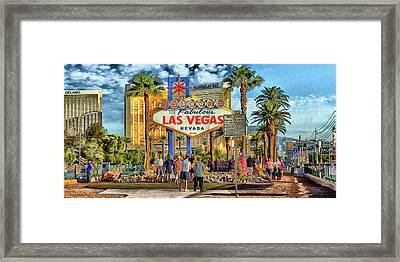 Framed Print featuring the photograph Vegasstrong by Michael Rogers