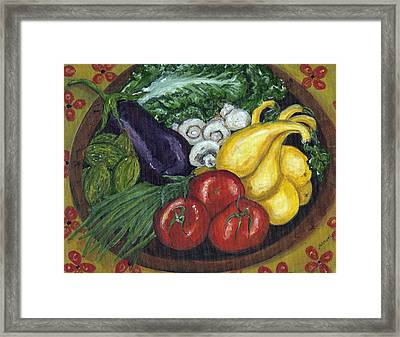 Vegetable Bowl Framed Print by Jill Hershock