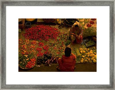 Vegetable Market In Malaysia Framed Print