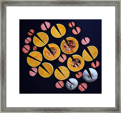 Vegetable Patterns Framed Print