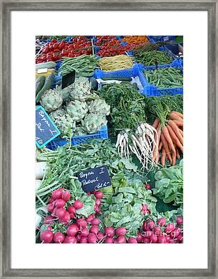 Vegetables At German Market Framed Print by Carol Groenen