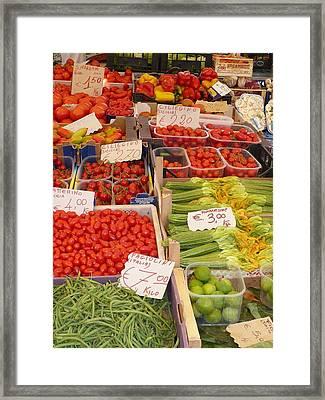 Vegetables At Italian Market Framed Print by Carol Groenen
