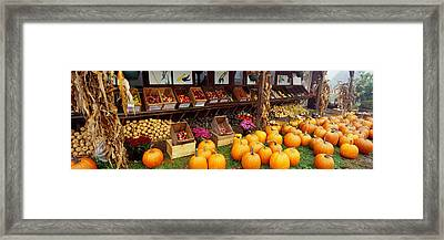 Vegetables In A Market, Grand Rapids Framed Print by Panoramic Images