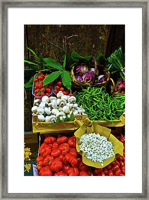 Framed Print featuring the photograph Vegetables In Florence by Harry Spitz