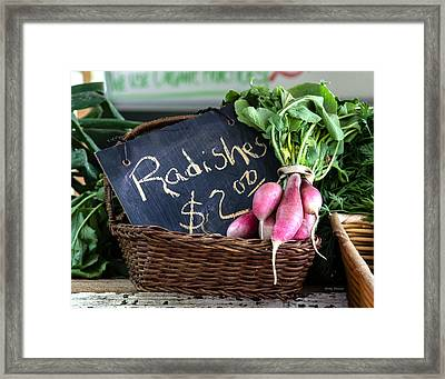 Vegetables Radishes Framed Print by Betty Denise