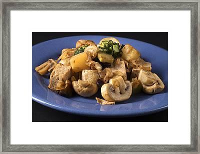 Vegetarian Stir Fry Framed Print by Donald  Erickson