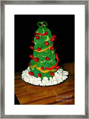 Veggie Christmas Tree Framed Print