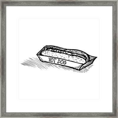 Veggie Hot Dog Framed Print