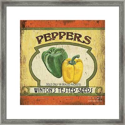 Veggie Seed Pack 2 Framed Print by Debbie DeWitt
