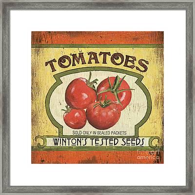Veggie Seed Pack 3 Framed Print by Debbie DeWitt