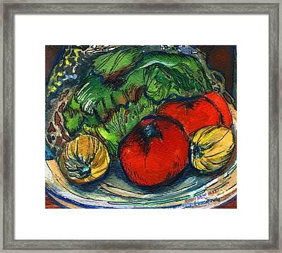Veggies Fresco Framed Print by Mindy Newman