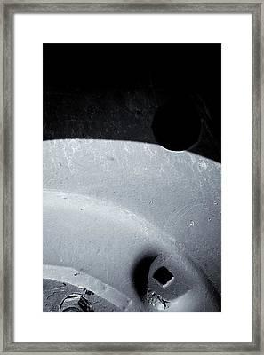 Vehicle Wheel Of Certainty Framed Print