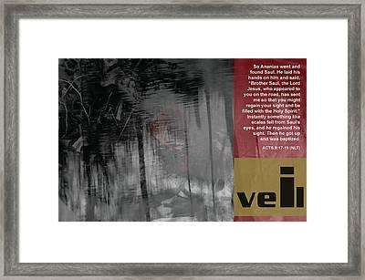 Veil A Framed Print by Affini Woodley