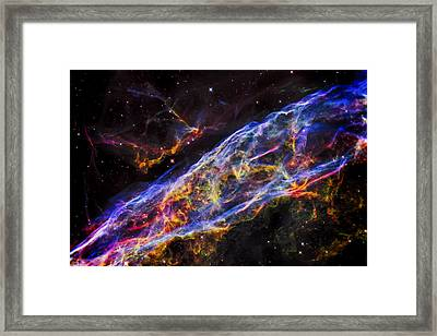 Veil Nebula - Rainbow Supernova  Framed Print by Jennifer Rondinelli Reilly - Fine Art Photography
