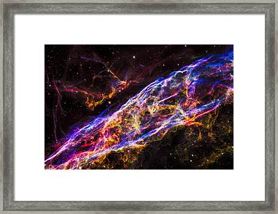Veil Nebula Supernova Remnant Framed Print by Marco Oliveira