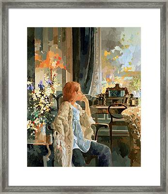 Veil Of Elegance Framed Print