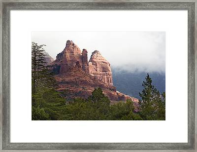 Framed Print featuring the photograph Veiled In Clouds by Phyllis Denton
