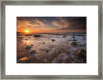 Veiled In Golden Light Framed Print