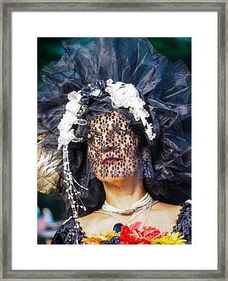 Veiled Lady Framed Print