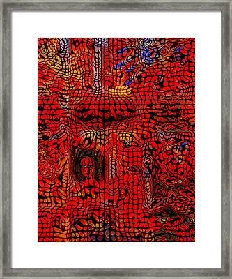 Veiled Woman-abstract Framed Print by Patricia Motley