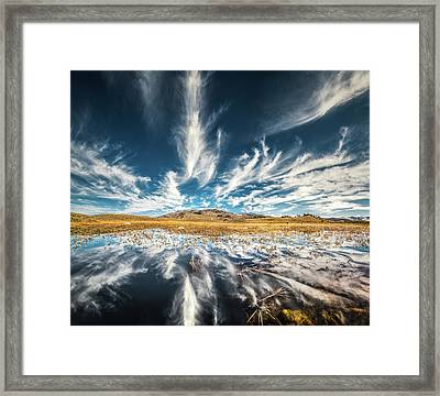Veins Of Earth And Sky // Yellowstone National Park  Framed Print