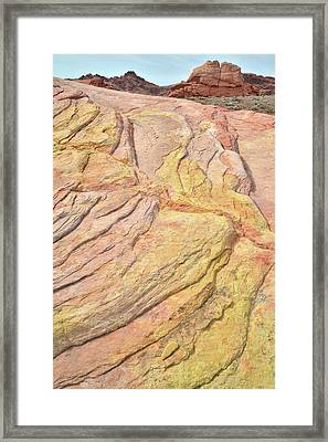 Framed Print featuring the photograph Veins Of Gold In Valley Of Fire by Ray Mathis