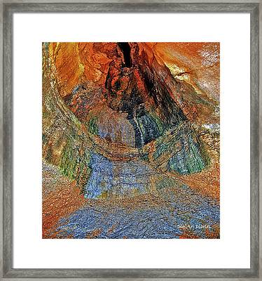Veins Of The Earth Framed Print by DigiArt Diaries by Vicky B Fuller